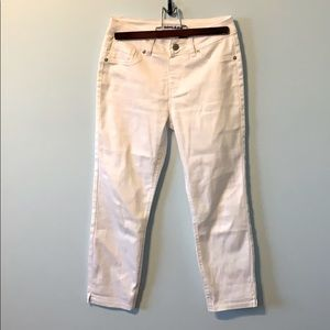 2 for $15! White Stretchy Cropped Pants
